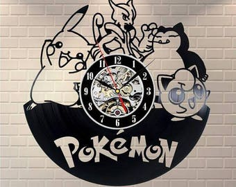 Pokemon Gift Vinyl Record Wall Clock