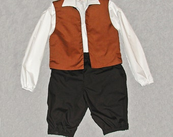 Boy's Costume Shirt, Vest, and Britches