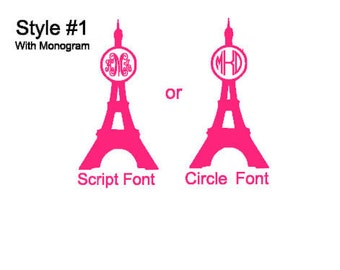 Eiffel Tower Vinyl Decal (Choose From Many Different Colors)