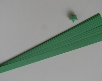 Green : Lucky Star Paper Strips (100)
