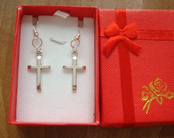 George Michael cross earrings.New