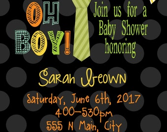 Baby Shower Invite, Oh Boy!