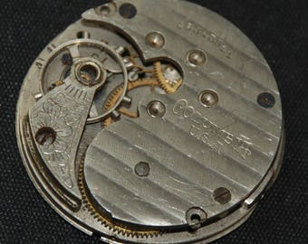 Gorgeous Vintage Antique Watch Pocket Watch Movement Steampunk Altered Art Assemblage Industrial QR 15