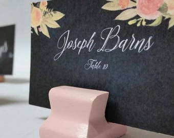 Cute Curves Weighted Place Card Holder - Soft Peach (Sample Quantities)