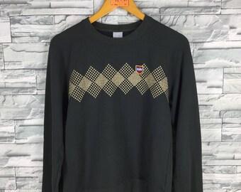 Vintage 90's NIKE Swoosh Sweatshirt Women Small Sportswear Streetwear Nike Sports Crewneck Sweater Nike Outfit Black Jumper Size S