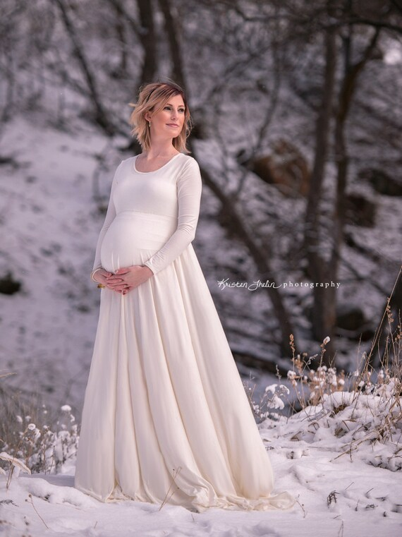 Plus Size Maternity Photography Maxi Dress or Casual Wedding