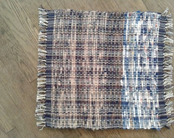 Blue/ brown hand woven placemats