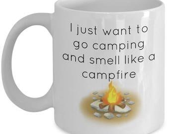 Camping Mug | Camping Coffee mug | Fireplace Mug