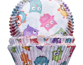 Owls Cupcake Cases 50x32mm x100