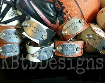 Leather Sport Cuff - Football, baseball, softball, soccer, and basketball