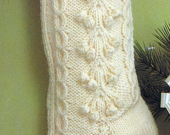 Knit Christmas Fisherman Stocking Vintage Knitting PDF PATTERN Retro padurns