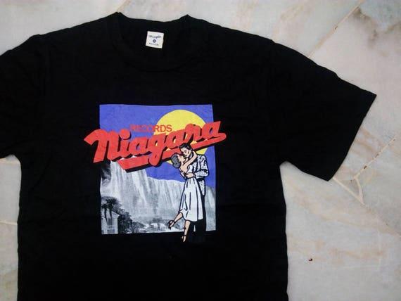 "Authentic ""Vintage Niagara x Wrangler T-shirt BOX LOVERS (Black / M size) GX9tDRUrV"
