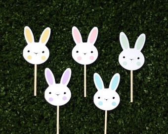 Little bunny cupcake toppers