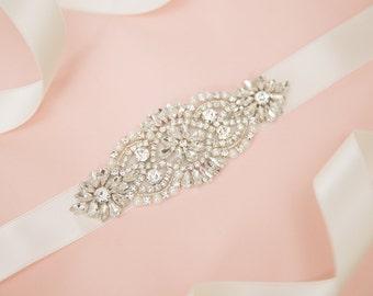 Bridal belt - bridal sash -rhinetone belt - wedding belt - rhinestone sash - crystal sash - rhinestone bridal belt - bridal sashes and belts