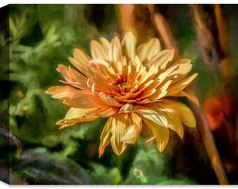 Garden Bloom - Ink On Fine Art Canvas - Indoor Art or Outdoor Art