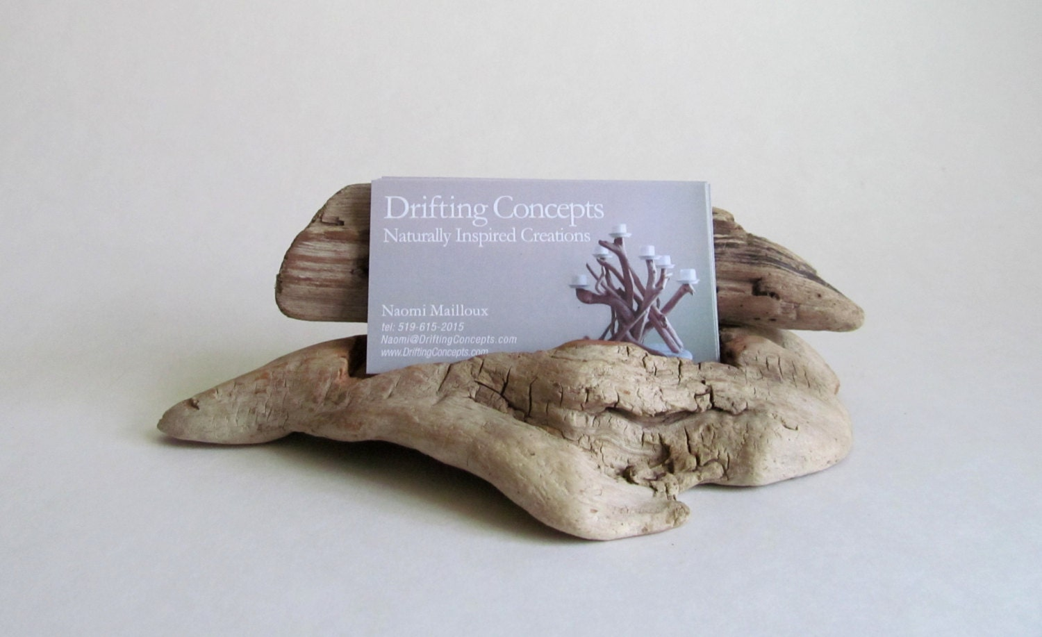 Carved Driftwood Business Card Holder Driftwood Business Card