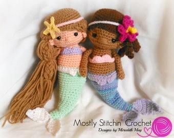 Mermaid Doll; CROCHET PATTERN; PDF