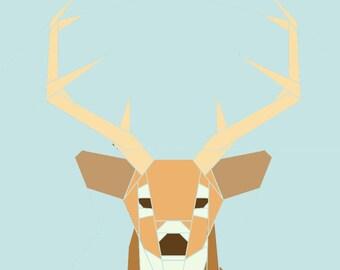 White-tailed Deer paper-piecing quilt pattern, PDF