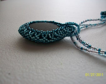 Frozen Waves of Aquarius: Beadwoven Necklace