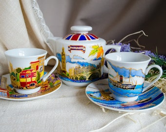 Service of two cups and a teapot 'London'