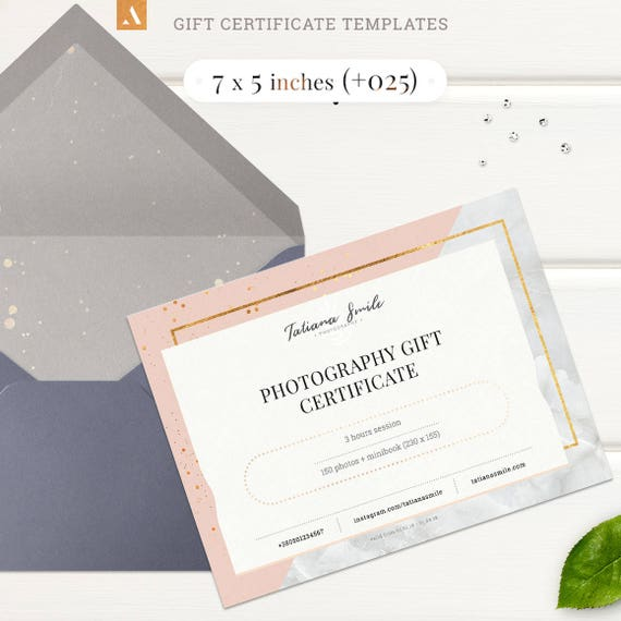 7 Styles Gift Certificate Templates Photography Gift Card