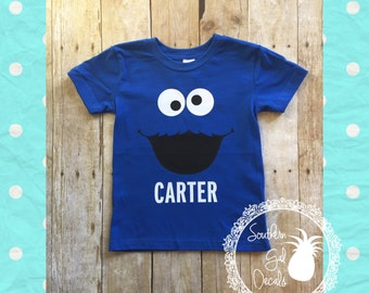 Personalized Cookie Monster Inspired Shirt