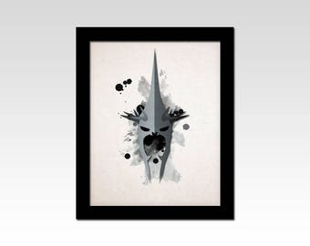 Lord of the Rings inspired The Witch King of Angmar minimalist print