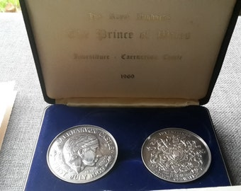 This a boxed set of prince of wales investiture pure silver coins with certificates Birmingham 1969