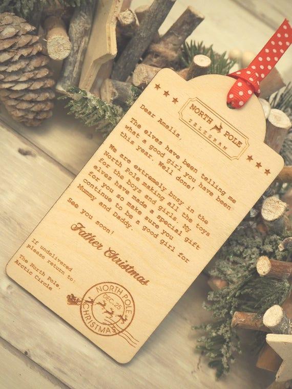 Personalised north pole telegram nice list letter from santa spiritdancerdesigns Choice Image