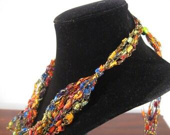 Trellis Necklace / Crochet Necklace Item No. A109