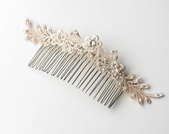 Lace Hair Comb, Wedding Hair Comb, Bridal Hairpiece