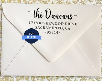 Custom Family Address Stamp, The Duncans Design Address Stamp, Self-Inking Return Address Stamps, Housewarming Gift Stamp