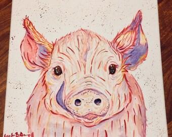 Watercolor Piggy