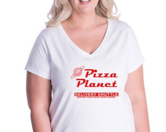 Plus Size Pizza Planet V-Neck tee | Toy Story Shirt shirt | Buzz Lightyear | Disney Shirt | Pizza Planet