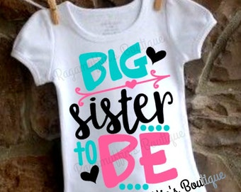 Big sister shirt, big sister to be shirt, big sister announcement shirt, I'm going to be a big sister shirt, pregnancy announcement shirt