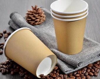 50 x 8oz/12oz/16oz Party Cups,Kraft Paper Cups, Brown Paper Cups,Party Favors TZ1384