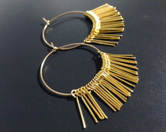 rock hoops and fine plated gold