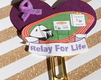 Relay For Life planner clip