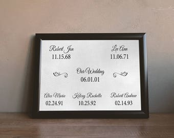 Personalized Family Tree - Wall Art