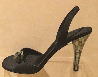 Calvin Klein Abalone Heel Sandals Size 7