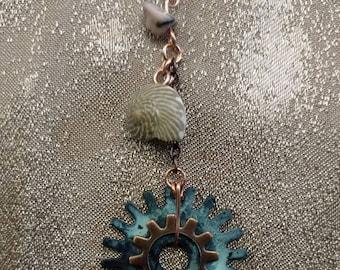 Coastal Steampunk Earrings