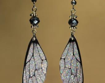 "Earrings ""Fairy wings"" sequined fantasy, magic, fantasy."