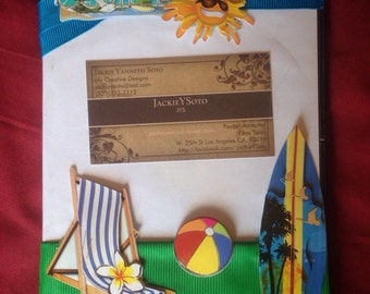 """Decorated """"Summer or Family"""" DVD Memrobillia Frame Album Cover with blank DVD-R"""