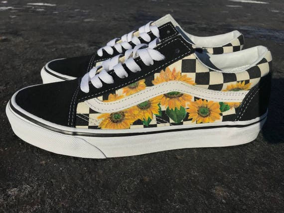 yellow vans with sunflowers nz