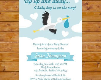 Stork Baby Shower Invitations ~ Stork baby shower invitation by rifle paper co inspired