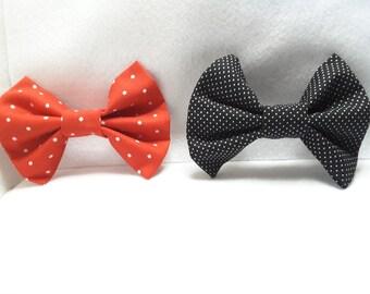 polka dots hair bows, polka dots fabric hair bow,hair clips,accesories