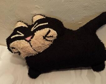 Toy black cat 12 x 17 cm