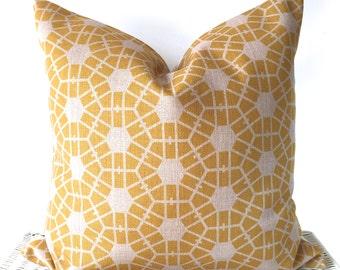 Yellow Cushion, Hexagon Yellow cushion, Yellow Skandi Cushion, Yellow Geo Cushion, Mustard Cushion, Pattern Cushion, Yellow Throw Pillow