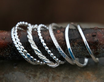 STACKING RINGS - Pick your own stacking ring - silver stacking rings - stackable ring