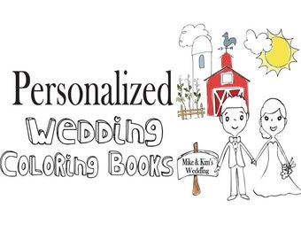 Kids Wedding Activity Book Wedding coloring pages Wedding coloring pages for Rustic Wedding Personalized activity book Coloring Pages
